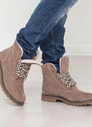 🔥 распродажа!!! замшевые ботинки зимние натуральная замша зима