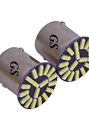 12V 1156-4014-19 SMD Одноконтактная (смещенный контакт) Желтый