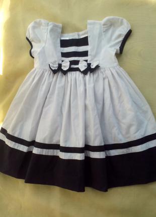 Платье нарядное Морячка для девочки 1 - 1,5 года