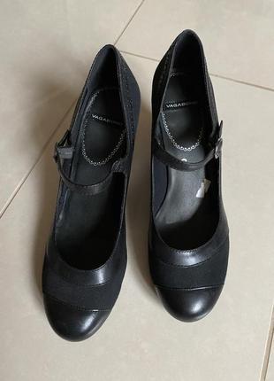 Туфли кожаные стильные модные vagabond размер 39