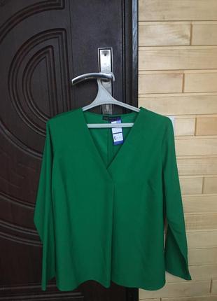 Блуза 💚красивого насыщенного цвета от m&s colecshion