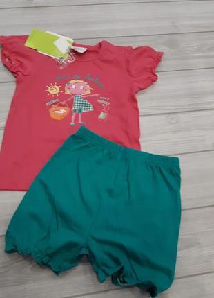 Яркий летний комплект для девочки topolino, германия р. 86 и 92
