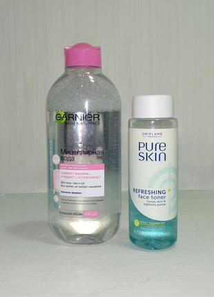 Набор из мицелярной воды garnier + тоник для лица oriflame