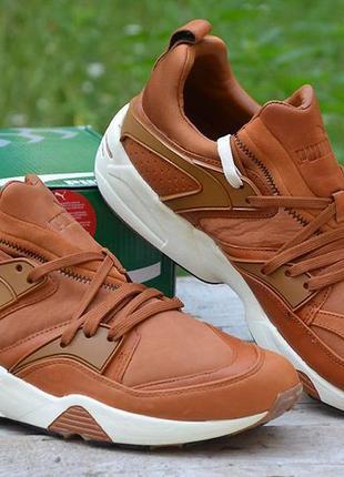 Оригинал puma! стильные кроссовки из натуральной кожи puma bla...