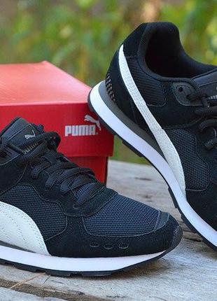 Оригинал puma! кроссовки замшевые черные пума vista