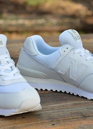 Оригинал new balance! кроссовки мужские белые кожа натуральная...