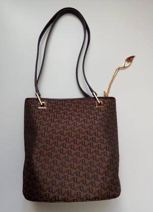 Bonia сумка текстиль + натуральная кожа