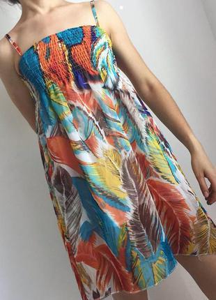 Летнее платье, сарафан, разноцветный сарафан, легкий сарафан.