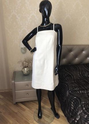 Платье молочное givenchy, оригинал, размер l
