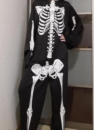 Карнавальный костюм скелет кащей взрослый на хэллоуин
