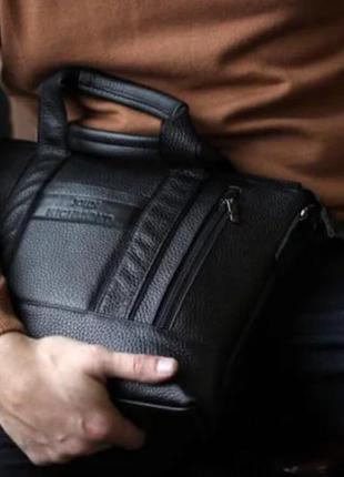 Сумка портфель кожаная для документов а4 sfip 8014