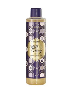 Мерцающее масло для тела молоко и мед с блестками