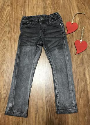 Стильные джинсы штаны серые 2 года