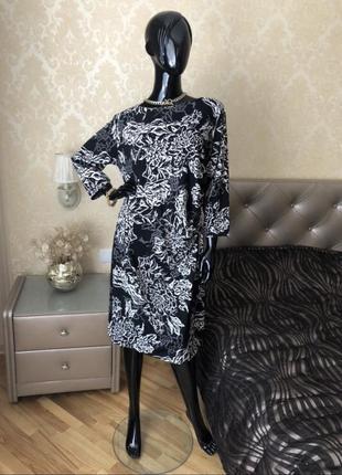 Платье в цветы, размер 48-50
