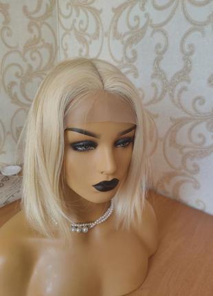 Парик из 100% натуральных волос 35 см высокого качества