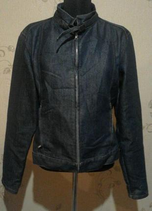 Джинсовый пиджак цвет темно-синий