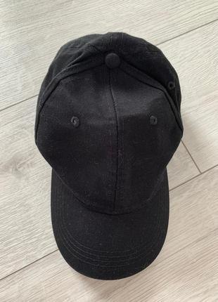 Бейсболка, чорна модна кепка, стильна, черная базовая кепка, к...