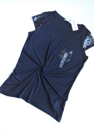 Нежная футболка waikiki с декором,молодежная одежда