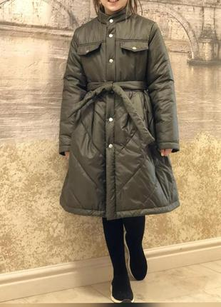 Весеннее пальто на синтепоне для девочки