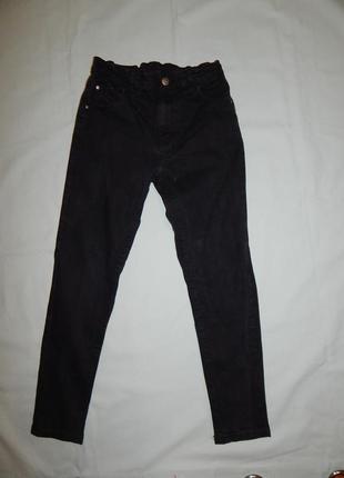 Джинсы черные модные на мальчика 11-12 лет 146-152см