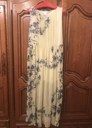 Платье плиссер в цветочный принт