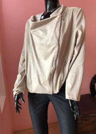 Куртка косуха, ветровка, под замш, размер 48-50