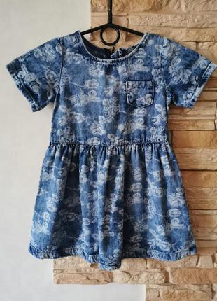 Джинсовое платье на девочку 4-5 лет