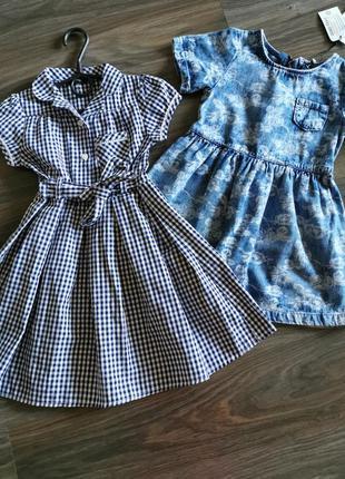 Хлопковое платье на девочку 3-4 года