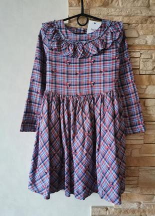Качественное хлопковое платье с рукавчиком