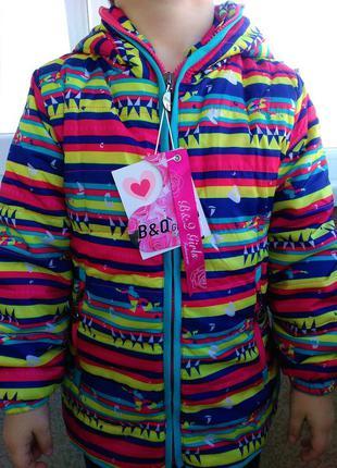 Яркая ветровка куртка парка на девочку весна осень 4-12 л польша