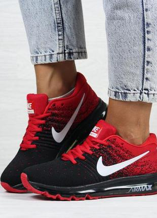 Женские кроссовки nike air max black red