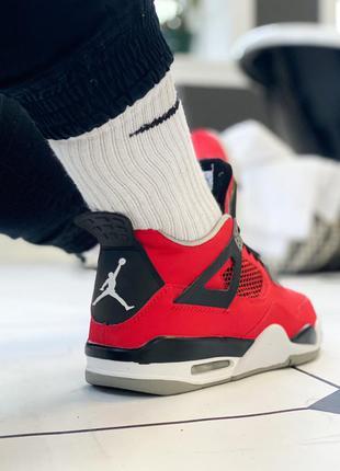 Крутые джордан кроссовки nike air jordan 4 retro 'red/black/wh...