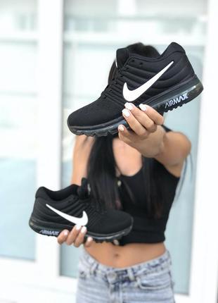 Nike air max black white
