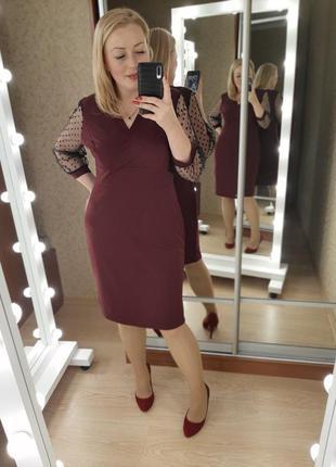 Бордовое красивое платье нарядное праздничное цвета в ассортим...