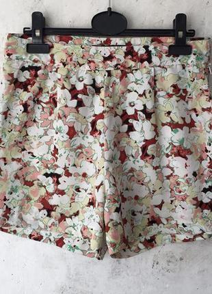 Короткие лёгкие шорты ,высокая талия, цветочный принт, religion