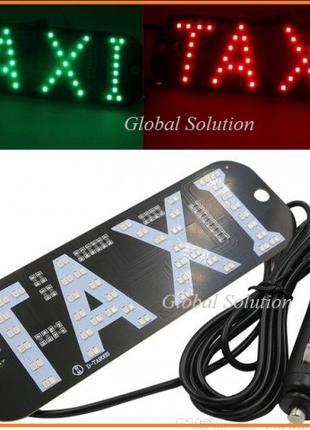 12V TAXI Зеленый/Красный с кнопкой