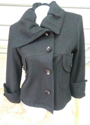 Шикарное укороченное шерстяное пальто турция