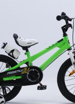 Детский велосипед Royal Baby Freestyle RB12B-6 ЗЕЛЕНЫЙ