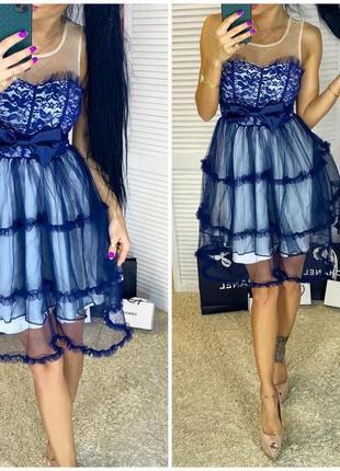 Платье сетка рюши воланы дефект