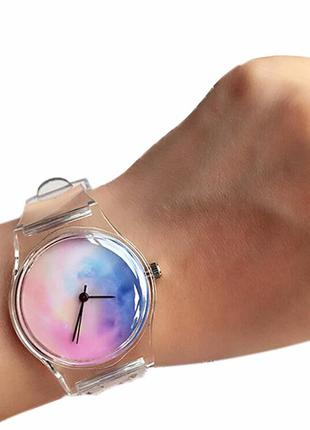 Женские силиконовые часы