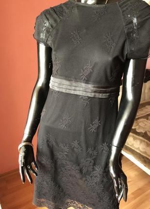 Платье маленькое чёрное, кружево, размер 48-50