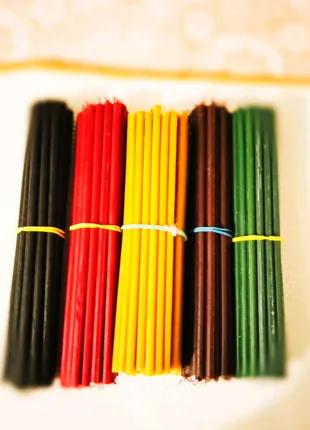 Свечи восковые цветные Тонкие и толстые