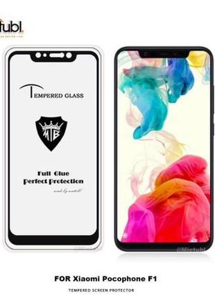 Защитное Full Glue стекло Xiaomi POCOPHONE F1 (Полная поклейка)