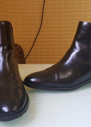 Кожаные демисезонные ботинки челси cos оригинал