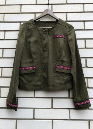 Жакет пиджак куртка цвета хаки