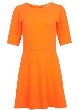 Платье нарядное 46 размер мини новое коктейльное бюстье оранже...