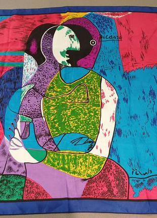 Picasso яркий большой платок picasso винтаж.