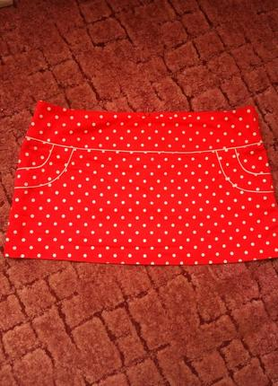 Короткая. юбка в горошек dotti