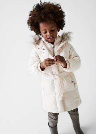 Пуховое пальто zara 3-4 года, 4-5 лет для девочки