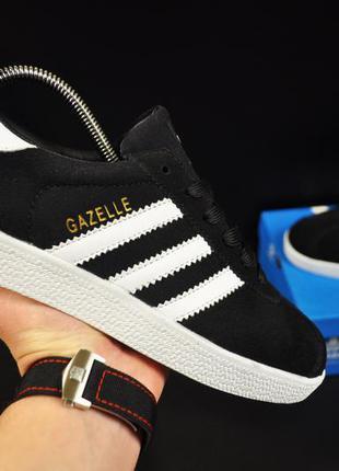 Кроссовки adidas gazelle арт 20736 (мужские, черные, адидас)